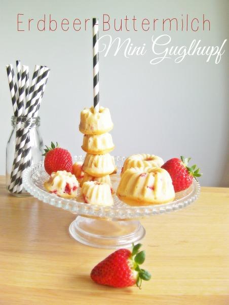 MiniGuglhupf mit Erdbeeren und Buttermilch
