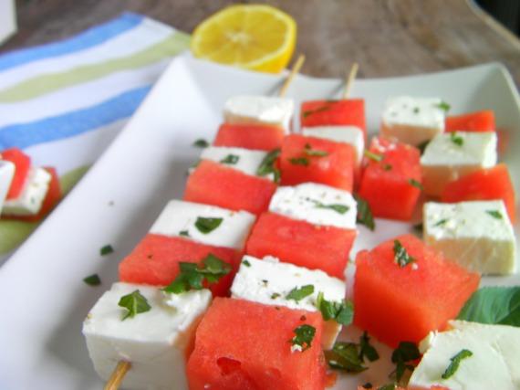 Wassermelonenfetaspieße5